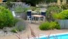 tuin + ontbijtterras bij vakantiewoning Vendee